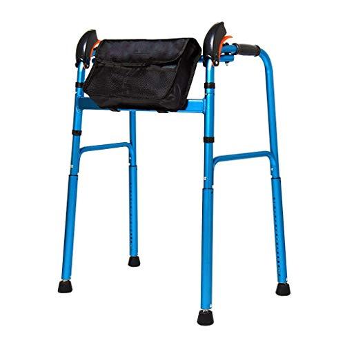 Ayuda para Caminar Plegable Ajustable en Altura Peso Ligero Adulto Peso Pesado Anciano Marco para Caminar para Bajar de Peso
