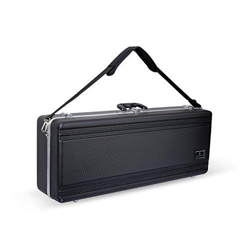 Crossrock CRA860TSBK-R Tenor Saxophone Case-Rectangular ABS Molded with Single Shoulder Strap, Black