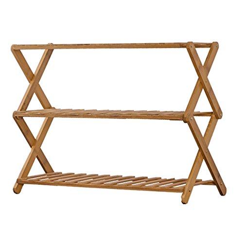 MILUCE Porte-Grille en Bambou à 3 Niveaux, Multifonctionnel, Pliable, Support intérieur/Balcon (Taille : 48cm)
