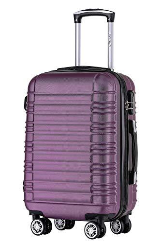 BEIBYE BEIBYE Zwillingsrollen Reisekoffer Koffer Trolleys Hartschale M-L-XL-Set (Violett, XL)