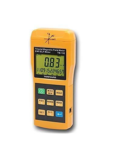 WJSW Tenmars TM-192 3-Achsen-Gaussmeter EMF ELF-Magnetfeld-Gauss-Messgerät mit 30-2000 Hz und Taiwan Made
