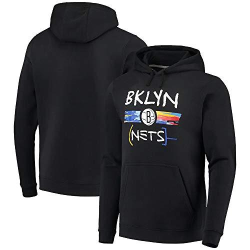 BMSD Camiseta de Baloncesto Unisex Brooklyn Nets Sudaderas con Capucha Negras Hombres Sudaderas de Manga Larga Ropa, L