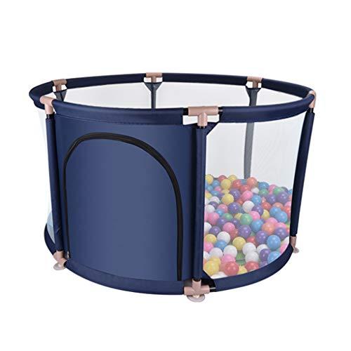 Clôture de jeu pour Enfants Clôture De Protection pour Enfants Aire De Jeux Intérieure Piscine À Balles pour Enfants Parc De Jeu Cadeau pour Les Enfants (Color : Blue, Size : 109x109x65cm)