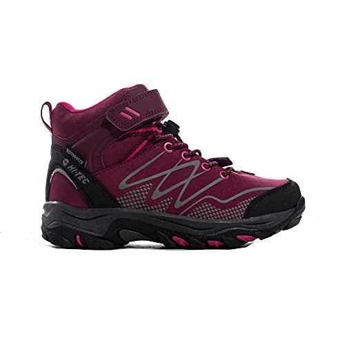Hi-Tec Blackout Mid WP JRG, Zapatillas para Caminar para Niñas, Rosa Oscuro Fucsia, 33 EU