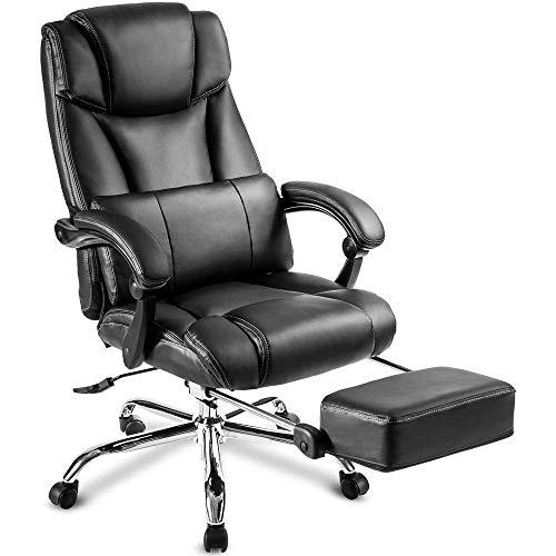 ZLQBHJ Sillas de escritorio de oficina, Sillas y sillas taburetes de oficina de Home silla ergonómica, respaldo alto Silla ejecutiva de piel Ordenador de escritorio ajustable del ángulo del respaldo S