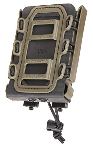 G-CODE Rifle Soft Shell Scorpion Mag Carrier (Black and OD Green) with R2 Clips- 100% Made in USA