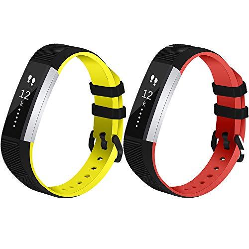 Vozehui Correas de repuesto compatibles con Fitbit Alta/Alta HR, reloj inteligente deportivo ajustable con silicona suave para mujeres y hombres