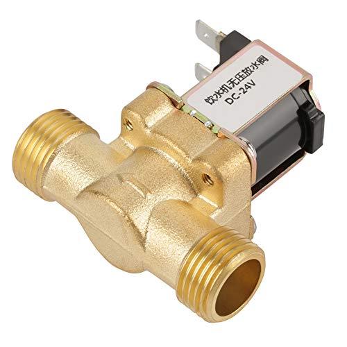 Weikeya Válvula solenoide Seca Normalmente Cerrada de 2 vías, mantenla sostenible Fabricada en latón Protección contra la corrosión húmeda 24 V