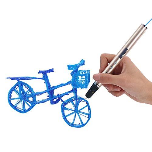 3D Penna, 3D Stereoscopico della Penna di Stampa con Schermo LCD e Controllo della Temperatura,3D Pen Doodling Pittura Compatibile con PLA/ABS Materiale Grande Regalo per Bambini Adulti Artista