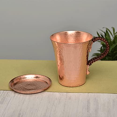 XXSC-ZC Taza de Cobre Puro, Copa de Vino, Taza de café, Taza de Agua, Taza de té de Leche, Cocktail Ron Whisky Brandy Cristal, Taza de Cobre Hecho a Mano