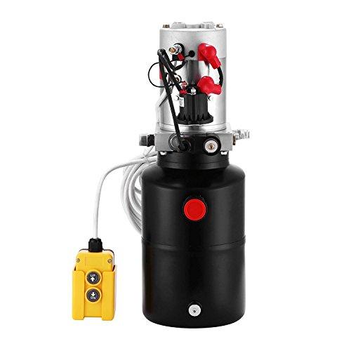 Buoqua Hydraulikpumpe 6L Hydraulikpumpe einfachtwirkend 12V DC Hydraulikaggregat 12v einfachtwirkend 3200PSI Hydraulic Pump