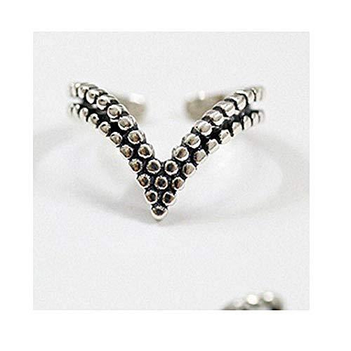 Ring Damen S925 Sterling Silber Ringe Für Damen Klassische Geometrische Ausgehöhlte Twist Knuckle Verstellbare Ring Damen Mode Geschenke Ar1808