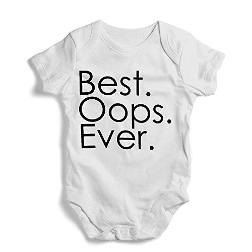Best Oops Ever Baby Romper Gift White Bodysuit New Born Jumper