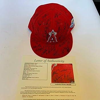 Mike Trout Derek Jeter Justin Verlander 2012 All Star Game Signed Game Hat JSA