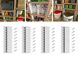 EZStudRack Garage Shelving - Garage Storage Shelves - 4 Sets of Plastic Shelf Holders to Make The Perfect Storage Rack or Utility Rack - Wood Shelves Not Included