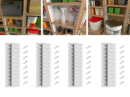EZStudRack Garage Shelving  Garage Storage Shelves  4 Sets of Plastic Shelf Holders to Make The Perfect Storage Rack or Utility Rack  Wood Shelves Not Included