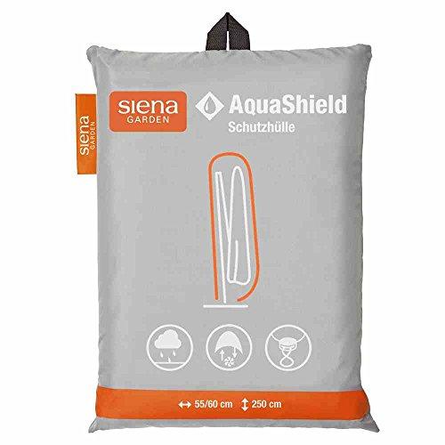 Siena Garden D41181 AquaShield Ampelschirmschutzhülle, silber-grau, mit Active Air System, 250x60x255cm