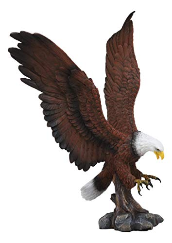 Ebros Large Rocky Mountain Grand Bald Eagle Descending on Prey Statue Patriotic American Home Decor Figurine Or as Religious Inspiration Decorative Sculpture of Eagles Wildlife Birds 4th of July