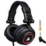 Maono AU-MH501 Professional Studio Monitor Headphones, Over Ear with 50mm Driver for DJ
