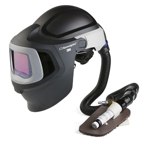 3M Speedglas Fresh-Air III Supplied Air System with V-100 Vortex Air-Cooling Valve and Speedglas Welding Helmet 9100 MP with Hard Hat, Side Windows and Extra-Large Size Auto-Darkening Filter 9100XX, Shades 5, 8-13, Model 27-5702-30SW
