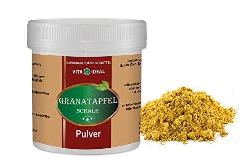 VITAIDEAL ® Granatapfel Schale PULVER 100g + Messlöffel von NEZ-Diskounter