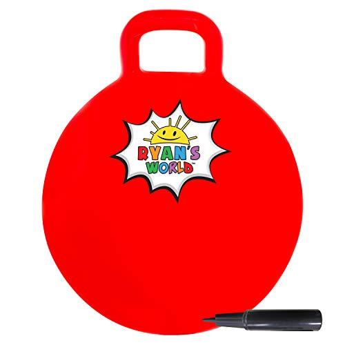 Franklin Sports Ryan's World Hopper Ball for Kids Ages 3+ - Bouncy Ball with Handle - 15 inches