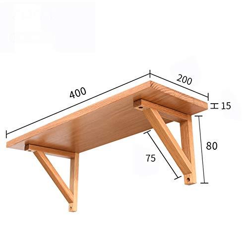 Cqing Scaffali, drijvende wandplank, solide decoraties van hout, natuurlijk rek, eiken, rustieke opslag, slaapkamer, woonkamer, badkamer, keuken, kantoor en meer, noce