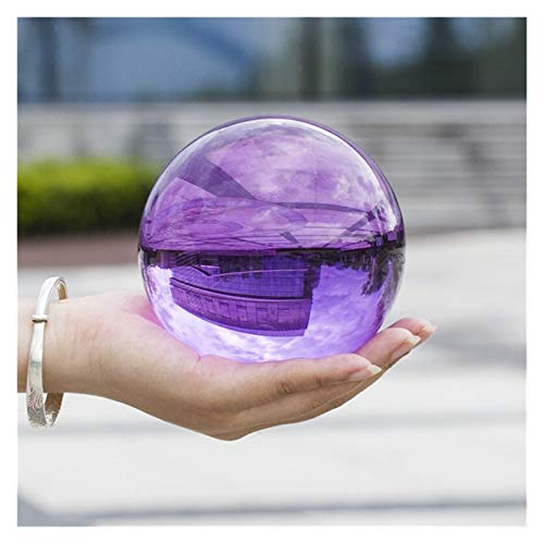 SLLX Decoración Bola Multicolor Bola de Cristal asiático Raro Raro Magia Magia Cuentas curativo Esfera Globo Cuarzo fotografía Balls Cristal artesanía decoración (Color : Violet, Talla : 60mm)