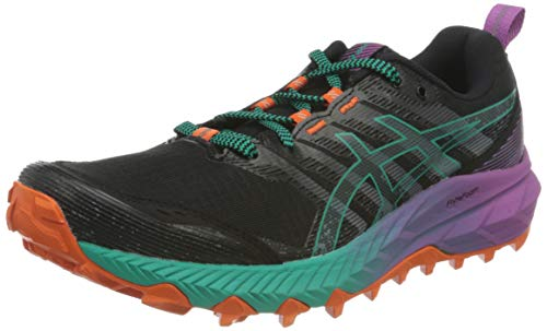 Asics Gel-Trabuco 9, Trail Running Shoe Mujer, Black/Baltic Jewel, 40.5 EU