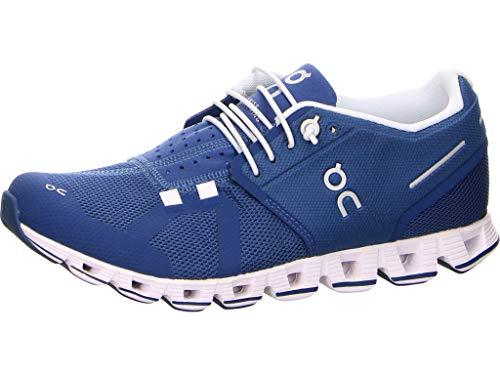 On Running W Cloud Blau-Weiß, Damen Laufschuh, Größe EU 42.5 - Farbe Denim - White