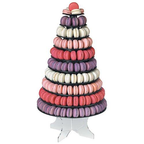 Cuisineonly - Piramide Porta-Macarons, Colore: Nero Cucina: Pasticceria