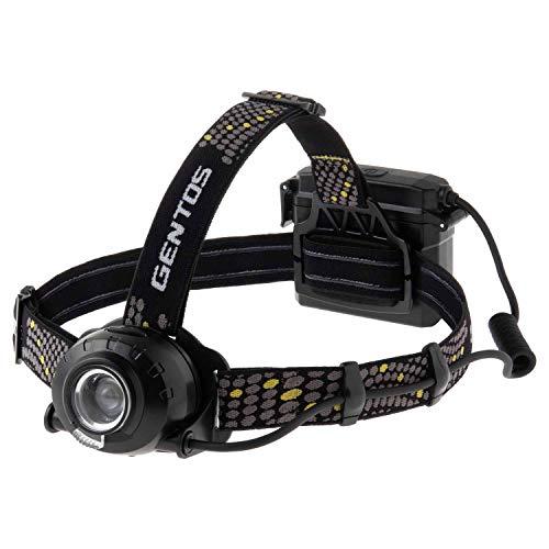 GENTOS(ジェントス) LED ヘッドライト USB充電式 【明るさ700ルーメン/実用点灯8時間/後部認識灯】 専用充電池または単3形電池3本(別売り)使用 ヘッドウォーズ HLP-2104 ANSI規格準拠 ブラック ヘッド部/幅80×奥行44×高さ57.2mm