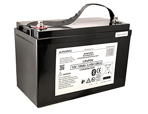 Ultramax 12v 100Ah LiFePO4 Leisure Battery for Land Rover Winch with...