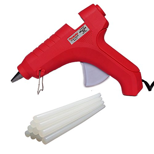 THEMISTO - built with passion 40W Hot Melt Glue Gun with Sticks, Anti Drip for Arts and Crafts, DIY Projects (Pink) - 5 Pieces