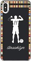 【230機種以上対応】 バスケ iPhone 12 mini pro Max Xperia Galaxy 楽天 UQ Yモバイル Android シルエット スマホケース カバー(アウェイ/ブルックリン:11番_C) ネッツ 184 AU AQUOS SERIE(SHV34)