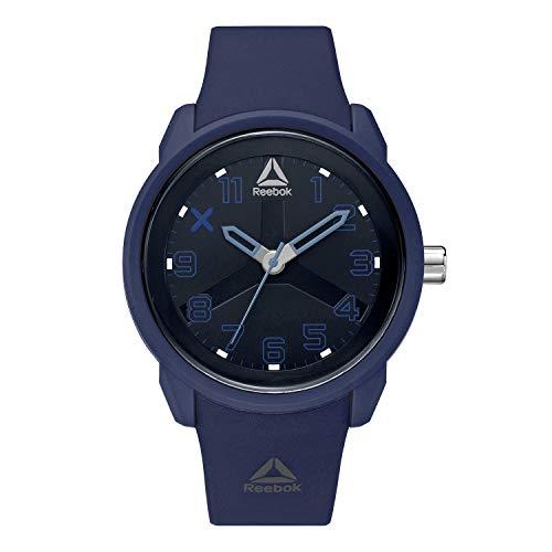 REEBOK ONC Orologio da uomo, cassa da 46 mm, quadrante blu, cassa in ABS, cinturino in silicone blu, quadrante blu (RD-ONC-G2-PNPN-NA)