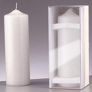 efco Kerze, Wachs, Weiß, 25x8x8 cm