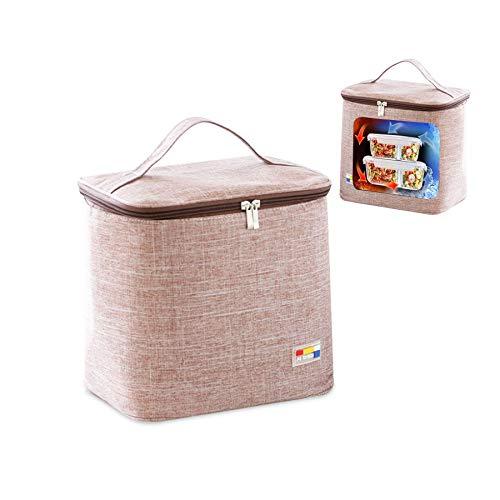Sunshine smile Nevera portátil plegable, 10 L, bolsa isotérmica, bolsa isotérmica, bolsa de pícnic, pequeña bolsa térmica plegable, bolsa de almuerzo, bolsa térmica