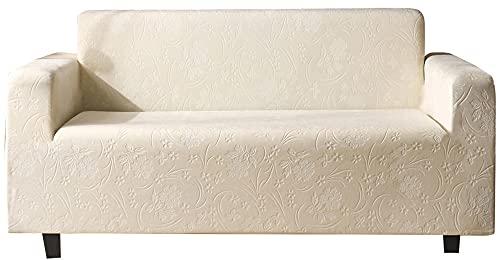HXTSWGS Fundas para Sofa de 1,2,3 Plazas,Funda de sofá de Terciopelo de Cristal, Funda de cojín de sofá Universal (el sofá en Forma de L Necesita Comprar Dos Piezas) -Blanco_L