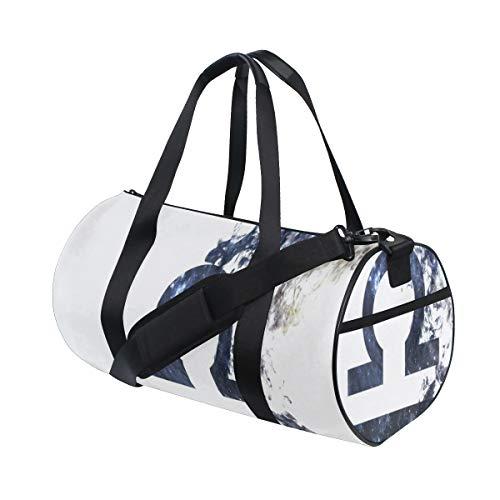 ZOMOY Barrel Bag,Cancro Zodiaco Bilancia Polvere Universo Minim,Nuova Borsa Sportiva a Secchiello da Stampa Borse da Fitness Borsa da Viaggio in Tela Bagagli
