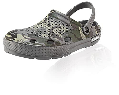 Magnus Herren Clogs Badeschuhe 21- (56D) Badelatschen Pantoffel Pantoletten Schuhe Neu Schuhgröße 45, Farbe Grau