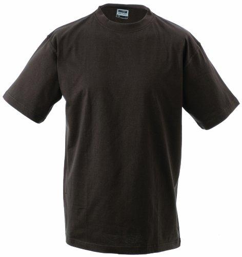 James & Nicholson Jungen Junior Basic Rundhals T-Shirt, Braun (Brown), X-Small (Herstellergröße: XS (98/104))