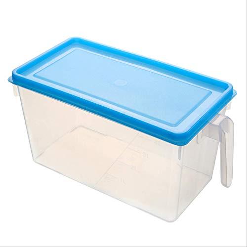 zziduwi Caja De Almacenamiento De Alimentos De Cocina Frasco Hermético De Almacenamiento De Plástico Fresco Funda Blanda Transparente + Azul