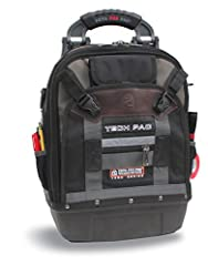Nylon 2 storage Bays- 4 storage compartments Padded EVA thermal-formed ergonomic back padding Quick release metal hasp for easy access to back storage bay 3 mm thick polypropylene base- won't tip over with tools stored in the bag unlike other backpac...