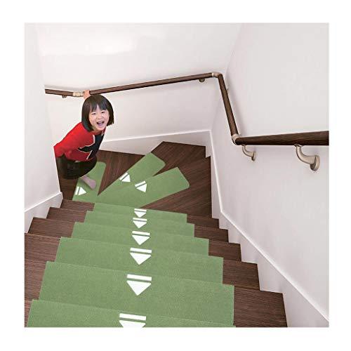 QIANMEI Tappeto per Scale Scale Tappeto Set da 10 Pezzi 70x22 cm Tappeto Luminoso Rettangolare | Lavabile | Autoportante | battistrada Antiscivolo | - Tappeto/Pad al Piano di sopra Tinta Unita, 5 co