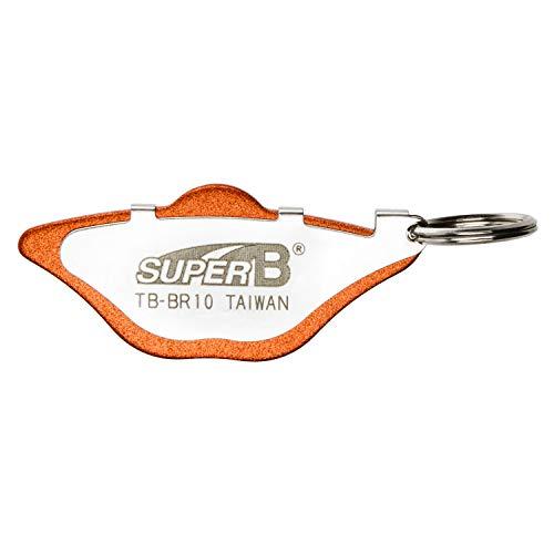 SuperB Unisex– Erwachsene TB-BR10 Justierhilfe für Bremsscheiben, orange