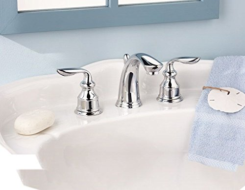 Pfister LFM49CBCC Avalon 2-Handle 8 Inch Widespread Bathroom Faucet in Polished Chrome, Water-Efficient Model