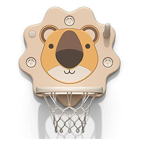 Tablero de Baloncesto Soporte de Baloncesto para niños, Soporte casero del Baloncesto de la Ventosa, Mini Dispositivo de Disparo sin Marco Interior para bebés (Color : Beige)