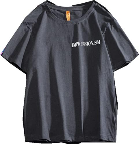 Camiseta de manga corta suelta grande casual top