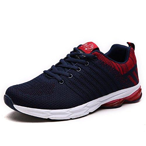 ZapatillasRunningpara Hombre Aire Libre y Deporte Transpirables Casual Zapatos Gimnasio Correr Sneakers Azul 42